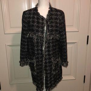 Zara frayed edge jacket with pockets